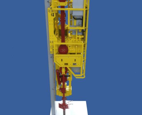 Drilling Rig Top Drive System, Bohrgerät für Öl- und Gasbohrungen. Im Maßstab 1:4